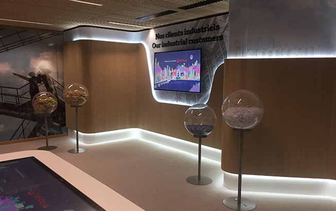 The showroom was produced and set up in Aubervilliers in Veolia's new premises.