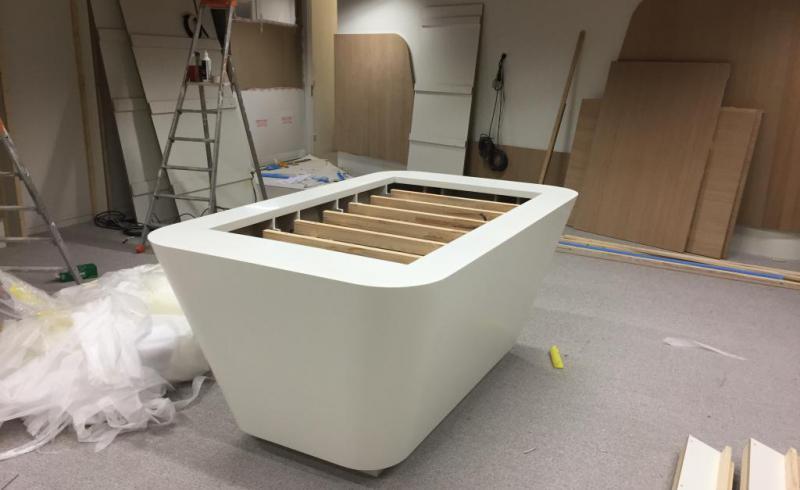 Showroom Technqiue VEOLIA borne en construction