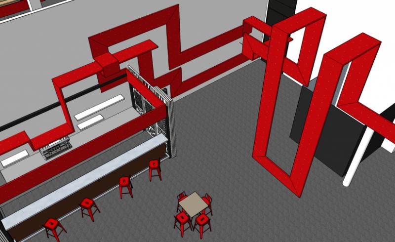 Icam Cafet Cube vue 3D