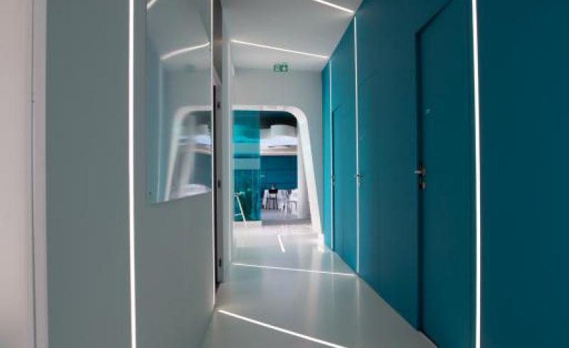 CFM chalet Salon du SIAE couloir