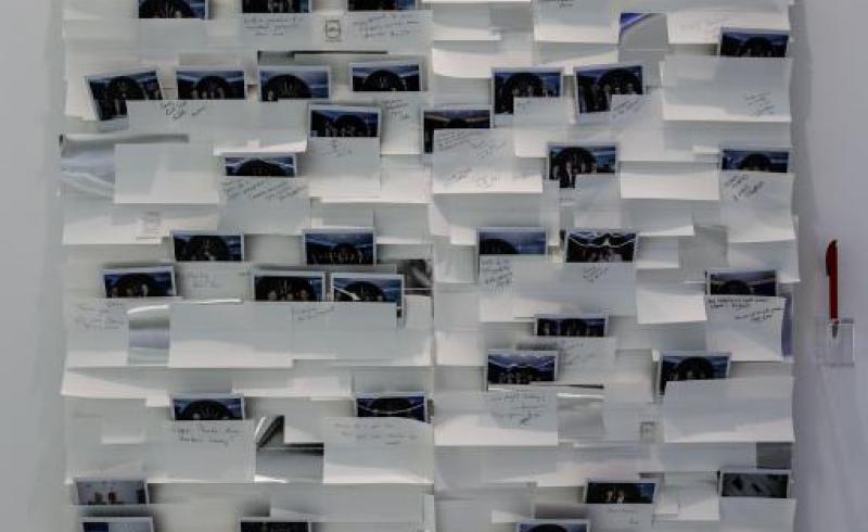 CFM chalet Salon du SIAE mur souvenir