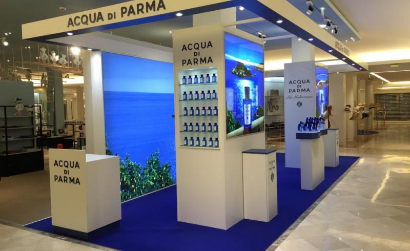 Pop up store Bon marché AQUA di Parma 24m2