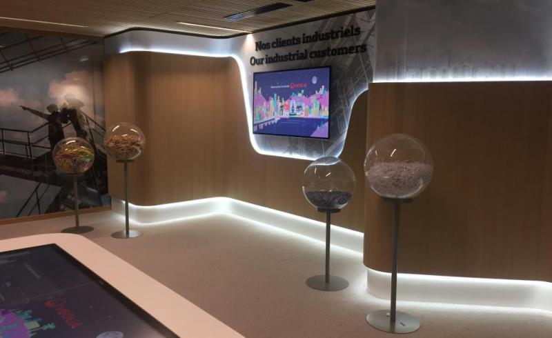 Showroom Technqiue VEOLIA eclairage ruban LED