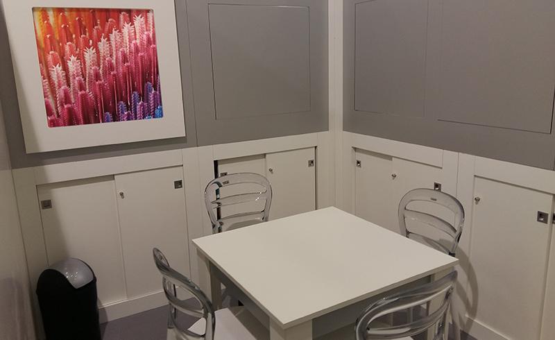 espace bureau sur stand