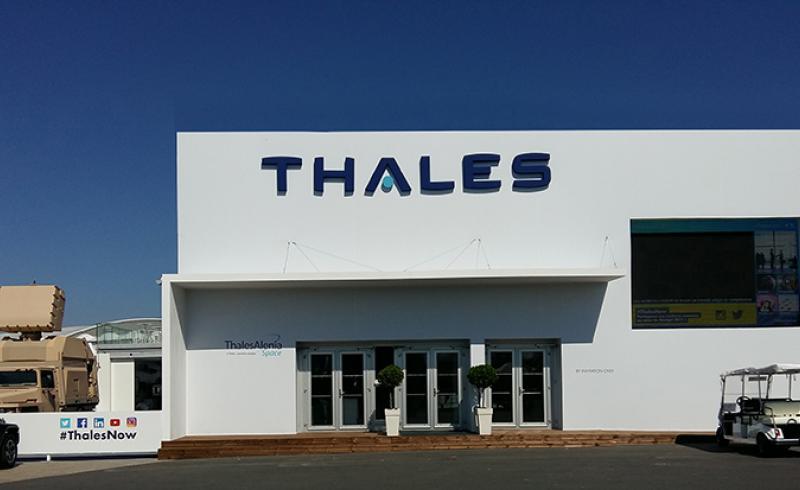 Vue extérieur du showroom Thales au SIAE